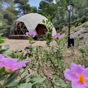Cúpula para retiros de Yoga en la sierra de Aitana en Alicante